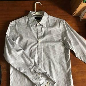 Banana Republic Grey polka dot long sleeved shirt